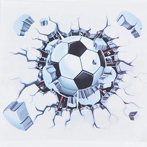 Terilizi zelfklevende doe-het-zelf verwijderbare 3D voetbal bal voetbal muur auto motorfiets Body Sticker Decal Vinyl auto Styling-19 * 19 cm