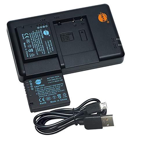 DSTE 2PCS DMW-BCJ13 DMW-BCJ13e DMW-BCJ13PP(1900mAh/3.7V) Batería Cargador Compatible para Panasonic Lumix DMC-LX5GK,DMC-LX5K,DMC-LX5W,DMC-LX55,DMC-LX7GK,DMC-LX7K,DMC-LX7W,Leica...