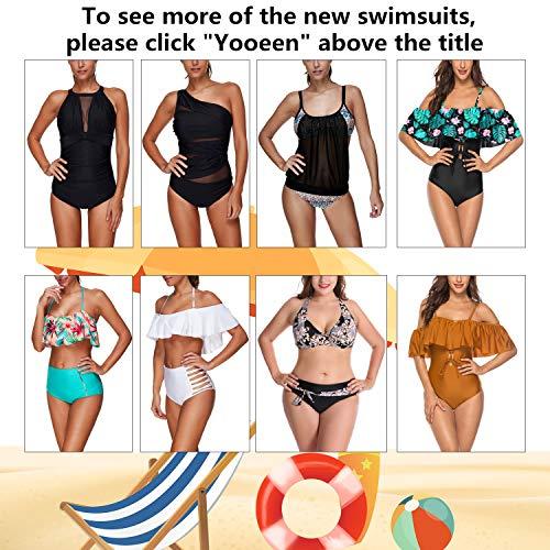 Yooeen Damen Hoher Taille Badeanzug 50er Retro Polka-Punkt Badeanzüge Bademode Zweiteiler Bikini Set Schwimmanzug - 6