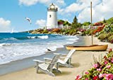 Ravensburger Sunlit Shores Large Format 300 Piece Jigsaw Puzzle for Adults – Every Piece is Unique, Softclick Technology Means Pieces Fit Together Perfectly