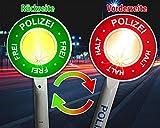 Trendario Polizeikelle Kinder mit Lichtfunktion, Premium Polizei Warnkelle für die Verkleidungskiste, Perfekte Geschenkidee für Kinder