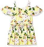 Nautica Girls Shoulder Dress, Cold Flounce Floral Limelight, L12/14