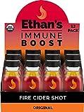 Ethan's Immune Boost Shot, Original Fire Cider Formula, Immune Support, Organic Apple Cider Vinegar Shots, ACV Supplement, Digestion Supplement, Gluten Free, (12 Pack of 2oz Shots)
