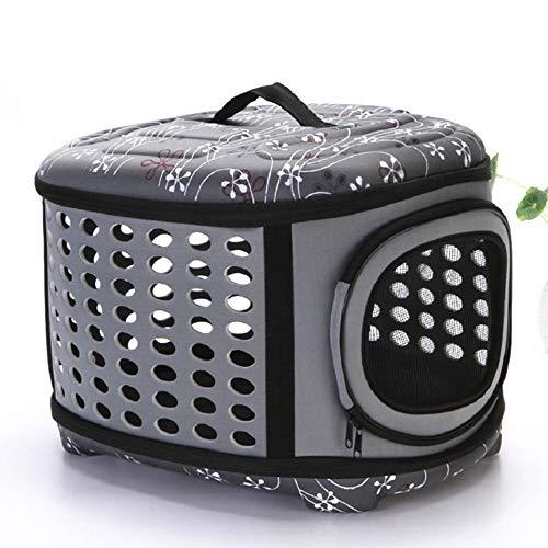 Yhjmdp Pet Carrier, handtas, rugzak, rond, opvouwbaar, verstelbare reistas, gemakkelijk passen voor outdoor reizen wandelen camping, fietsen, spelletjes, winkelen, voor kleine middelgrote honden katten, grijs
