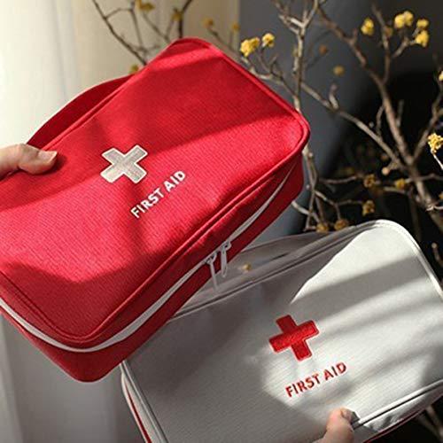 fgjhfghfjghj Kit de Primeros Auxilios al Aire Libre Bolsa de Emergencia Kit médico de Emergencia Bolsa de Supervivencia Bolso de Almacenamiento de Medicina de Viaje Pequeño Organizador con asa
