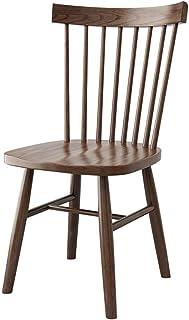 Shisyan Silla de comedor 2 sillas de madera maciza Silla de comedor de nogal marco de madera maciza moderna simple de sillas de comedor Sala de cocina (Color: Marrón, Tamaño: 42cm x 42cm x 86cm) Silla