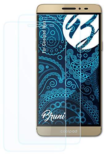 Bruni Schutzfolie kompatibel mit Coolpad Max Folie, glasklare Bildschirmschutzfolie (2X)