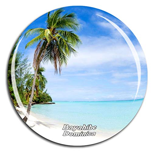 Weekino Bayahibe Dominica Karibik Kühlschrankmagnet 3D Kristallglas Touristische Stadtreise City Souvenir Collection Geschenk Starker Kühlschrank Aufkleber