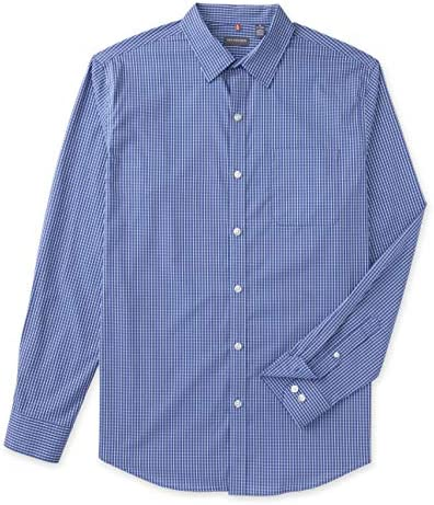 Van Heusen Men s Big and Tall Traveler Non Iron Stretch Long Sleeve Shirt Blue Mazarine 2X Large product image