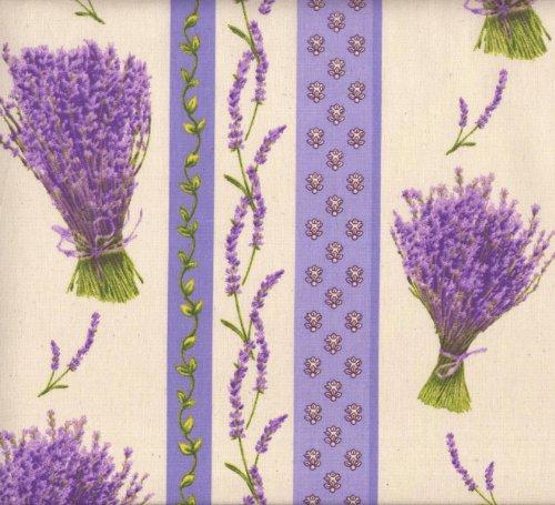 Baumwollstoff | Bündel von Lavendel (Streifen) - Neue Farbe (Lavendel) | 100% Baumwolle | Stoffbreite: 160cm (1 meter)