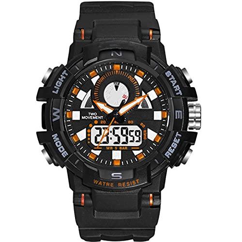 WTYU Reloj De Pulsera para Hombre, 5 ATM a Prueba De Agua Relojes Militares Digitales con Temporizador/Alarma para Hombres, Reloj De Pulsera Analógica Resistente a Los B