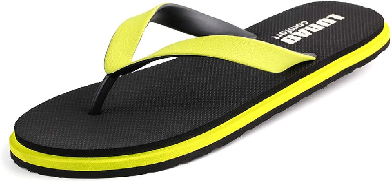 QAR gul gul gul Flip -Flops sommar Slip mode Cool Slippers Män utomhus Sports strand skor Flip Flop (Färg  gul, Storlek  44)  upp till 65% rabatt