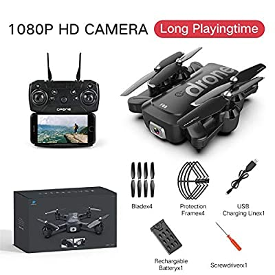 pegtopone Drone Folding Drones With Dual Camera For Adults 1080P/4k HD, Foldable Drone For Beginners, RC Quadcopter With GPS, Follow Me, Altitude Hold And 2.4Ghz WiFi Transmission Live Video