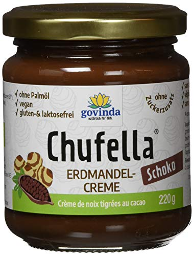 GOVINDA Chufella Bio (Erdmandel-Schokocreme), 2er Pack (2 x 220 g)