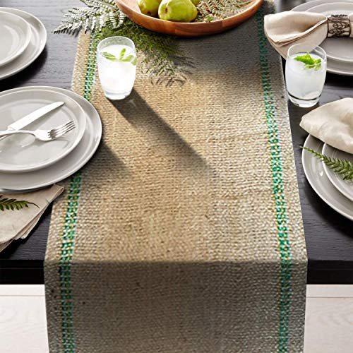 """AAYU Premium 12"""" x 108"""" Burlap Table Runner