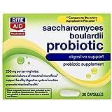 Rite Aid Saccharomyces Boulardii Probiotic, 250mg - 30 Capsules | Digestive Health | Probiotics for Women and Men