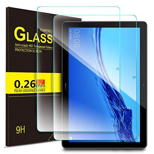 ELTD Glas Bildschirmsfolie für Huawei MediaPad T5 10,Ro&ed Corners 2.5D, 9H Festigkeit, gehärtetes Glas Bildschirmschutz Glasfolie Panzerfolie für Huawei MediaPad T5 10 10.1 Zoll 2018 Tablet PC (2 Stück)