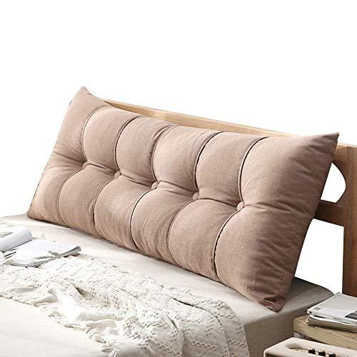 ANHPI-Cushion Bett Kopfteil Kissen Dreieck Schlafzimmer großes Rückenlehnenkissen Lesesofa Taille Rückenlehne Abnehmbar Waschbar (Color : 4#, Size : 150 * 20 * 60cm)