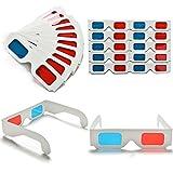 Disok - Set di 20 occhiali 3D anaglifi in cartoncino