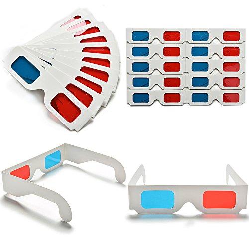 Lote de 20 Pcs de Gafas 3D Anaglifos de Papel Cartón - Envío Desde España 24-48 Horas