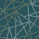 Apex - Papier peint géométrique - Triangle métallique de luxe - 3D - Palladium Holden Decor