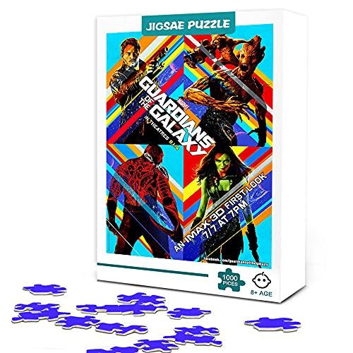 Puzzle para adultos 300 piezas de Guardianes de la galaxia cartel temático de la película rompecabezas de madera cartel de estrella de cine familiar rompecabezas desafío juguete educativo 38x26cm