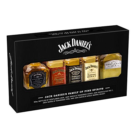 Estuche Jack Daniel´s family of fine Spirits Pack 5 botellitas de 50ml cada uno