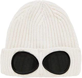 CP Company Goggle Beanie Hat in White