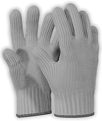 1 Pair Grey Heat Resistant Gloves Oven Gloves Heat Resistant With Fingers Oven Mitts Kitchen product image