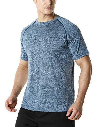 (テスラ)TESLA 半袖 tシャツ 機能性 クルーネック シャツ [UVカット・吸汗速乾] ランニング トレーニング アウトドア スポーツ メンズ MTS30-SDN_L