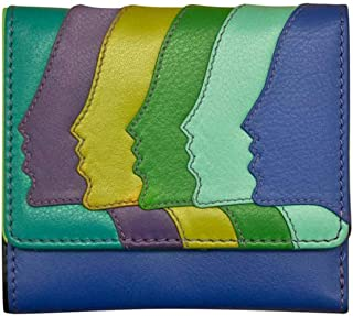 ili New York 7421 Leather Faces Tri-fold Wallet with RFID Lining