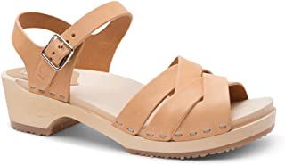 Swedish Wooden Low Heel Clog Sandals for Women | Rio Grande