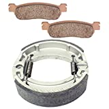 Caltric Front Brake Pads & Rear Brake Shoes Compatible With Yamaha Xt225 Xt-225 Serow 225 1985-2007