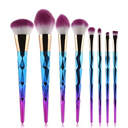MEIYY Make-up borstel 8 Stks Make-up Borstels Sets Stichting Wenkbrauw Poeder Concealer Borstels Synthetische Huur make-up