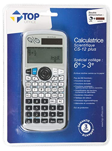 TOP OFFICE - Calculatrice Scientifique Collège...
