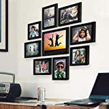 AJANTA ROYAL Individual Synthetic Polymer Wood Photo Frames(6-5x7-inch, 2-5x5-inch, 1-8x10-inch),...