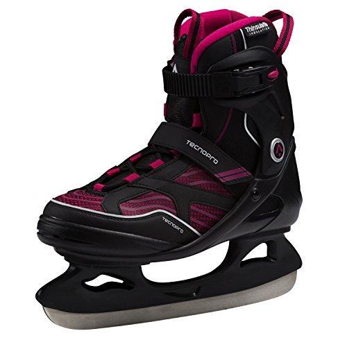 Tecnopro Damen Complet Hurricane Eishockeyschuhe, Schwarz/Plum, 37