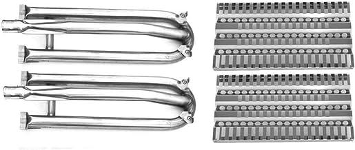 Grill Parts Zone Replacement Kit for DCS DCS48DS-BQA, 27DBQR, BG27-BQ, DCS BGB30-BQR-N, 48EBQR, BG36-BQARN, BG48-BQRL Gas Models Includes 2 Burners and 2 Heat Plates