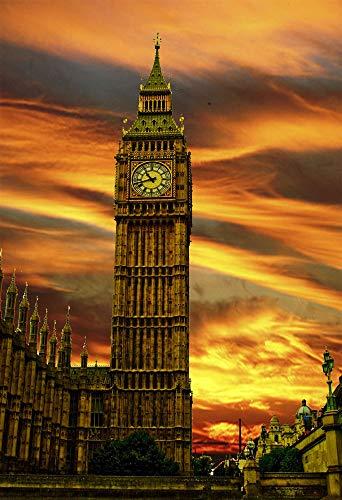 Rompecabezas500Piezas Para Adultos Vista Del Big Ben De Londres Rompecabezas Juguete Educativo Patrón De Paisaje Jigsaw Puzzle 52x38cm(20.5x15 pulgadas)
