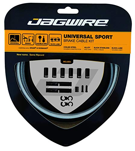 Jagwire - Universal Sport DIY Brake Cable Kit | for Road and MTN Bike | SRAM and Shimano Compatible | Sterling Silver