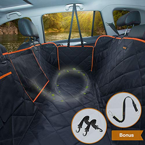 iBuddy Dog Car Seat Covers for Back Seat of Cars/Trucks/SUV, Waterproof Dog Car Hammock with Mesh...