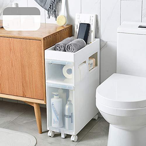 Preisvergleich Produktbild GYL Regal XSJZ Nischenregal Nischenwagen Schmaler Trolley,  Mehrlagige Seitliche Umlenkrolle für Badezimmerregal Servierwagen (Farbe : A)