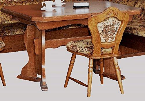 Unbekannt Küchentisch Eiche rustikal ausziehbarer Tisch Eßtisch Eiche rustikal P43 - (2187)