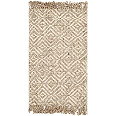 Safavieh Natural Fiber Collection NF450A Hand Woven Natural and Ivory Jute Area Rug (2'6  x 4')