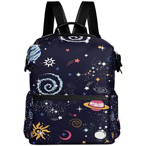 Oarencol Space Galaxy Cartoon Sternbild Sternbild Stern Rucksack Schule Buch Tasche Reisen Wandern Camping Laptop Daypack