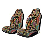 NA-1 Tie Dye Grate-ful Dead Dancing Bear Car Seat Cover Protector Cushion Premium Covers for Women, Men, Girls, Boys Fits Most Cars, Truck, SUV Or Van