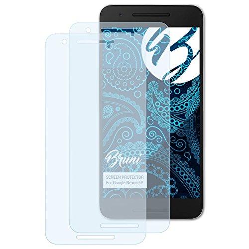 Bruni Schutzfolie kompatibel mit Google Nexus 6P Folie, glasklare Bildschirmschutzfolie (2X)
