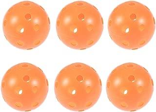 VORCOOL Pickleballs,6 Pcs Photon Indoor Pickleballs Official Size Pickleball Ball Sets(Orange)