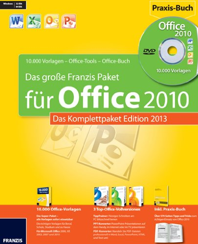 Das Große Franzis Office Paket - Edition 2013 [import allemand]