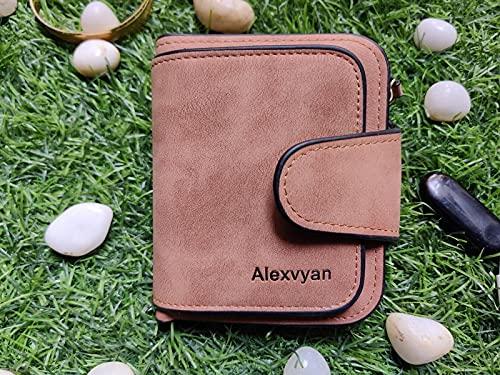 Alexvyan Women's leather Small Purse Wallet Female Hand Clutch Women/ Ladies/ Girls Wallets Card Holder 3 Pocket